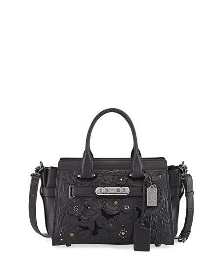 Coach Swagger 27 Applique Flower 100 Original Authentic Bag coach swagger 27 tea tooling satchel bag