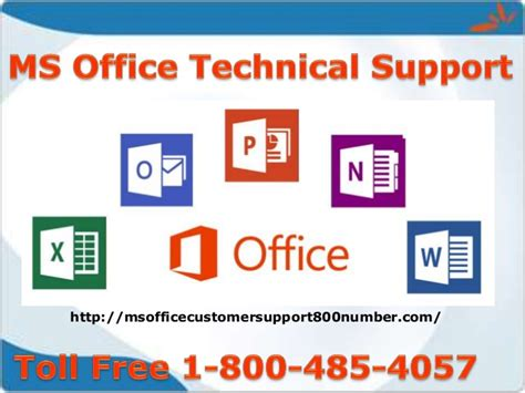 ms office technical support number 1 800 485 4057
