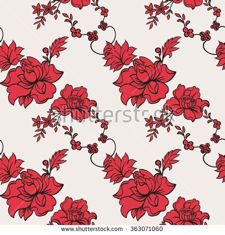 jacobean pattern vector jacobean elements stock vector 281994014 shutterstock
