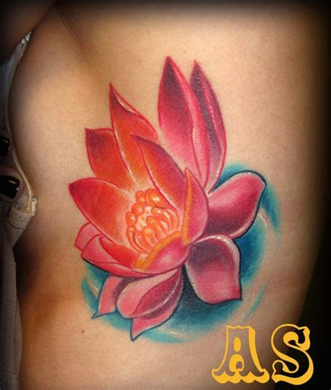 lotus tattoo on ribs 35 delightful lotus flower tattoo designs pictures sheplanet