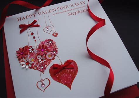 Handmade Valentines Cards - handmade valentines cards personalised s