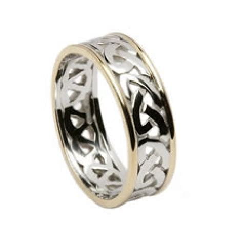 wedding knot celtic open knot wedding band with trims