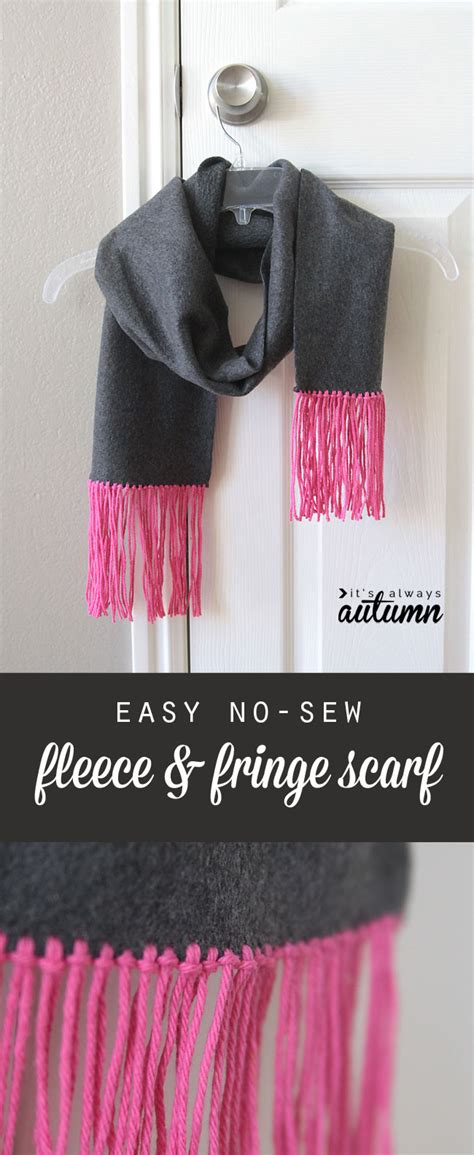 Great Handmade Gifts - easy no sew fleece fringe scarf great handmade gift