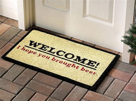 funny door mat greet your visitors with funny door mats