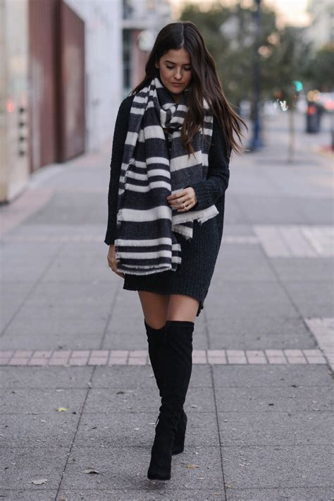 wearing boots how to wear the knee boots in fall just the design