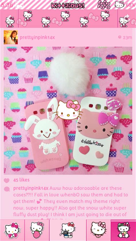 facebook themes hello kitty for android pretty droid themes hello kitty pink instagram theme for