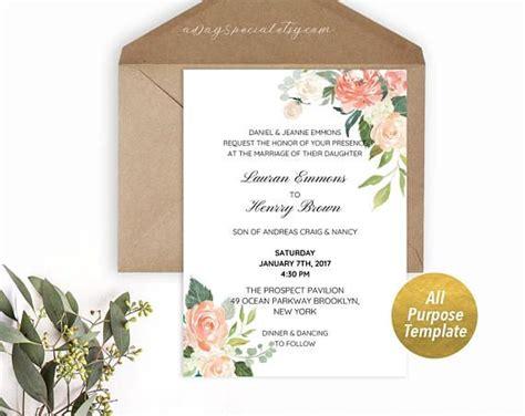 purpose peach cream floral template printable bridal