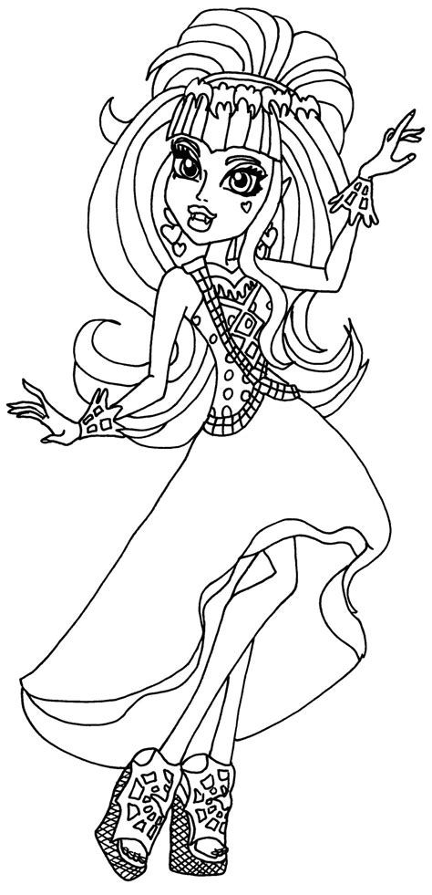 monster high coloring pages 13 wishes gigi draculaura 13 wishes by elfkena on deviantart