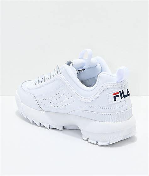 Fila Disruptor In White fila disruptor ii white shoes zumiez