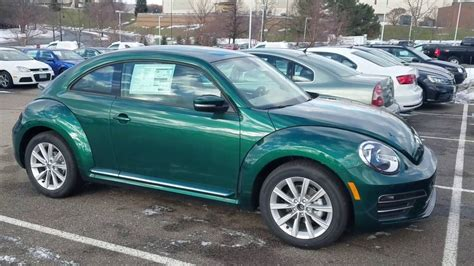 green volkswagen beetle 2017 bottle green beetles are here