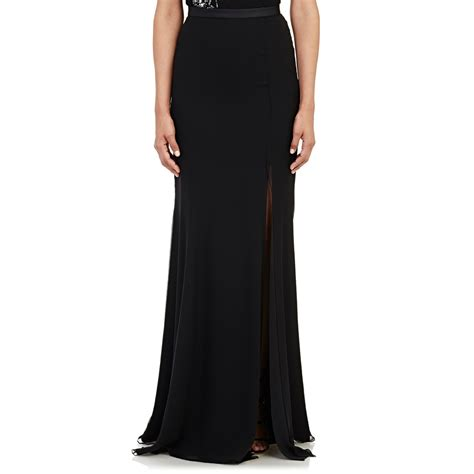 Floor Skirt by Prabal Gurung Chiffon Floor Length Skirt In Black Lyst