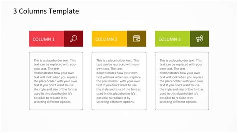 template 1 column free 3 columns powerpoint template