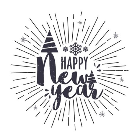 new year vector ai new year background with lines in vintage style vector