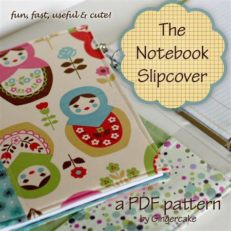 sewing pattern notebook cover notebook binder cover sewing pattern a pdf pattern cover any