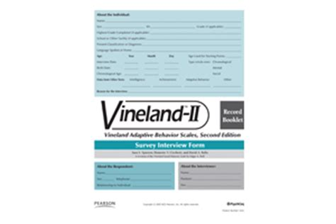 vineland ii sle report vineland adaptive behavior scales second edition