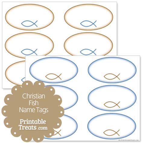 printable religious name tags fish name tags printable pictures to pin on pinterest