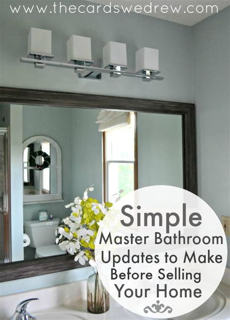 simple master bathroom simple master bathroom updates to make before selling the cards we drew