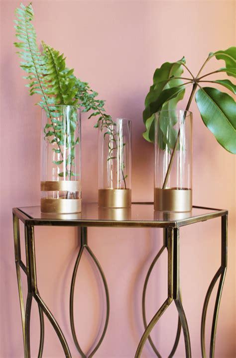Metallic Vases Cheap by Diy Metallic Dipped Vases Magazine