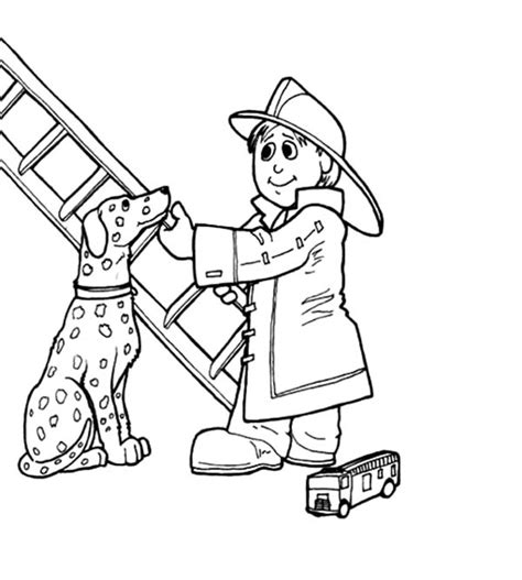 sparky the fire dog coloring pages coloring pages