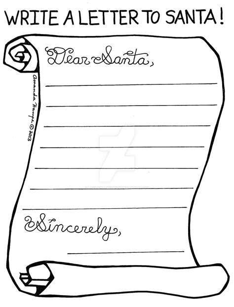 Coloring Pages Letter To Santa | 2013 color page letter to santa by ladyjuxtaposition on