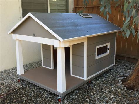 dog house windows protect your dog with this winter ready dog house this jumbo house is great for a