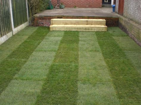 Laying Garden Sleepers by Sheffield Landscaper Gallery Patios Decking Ponds Fencing
