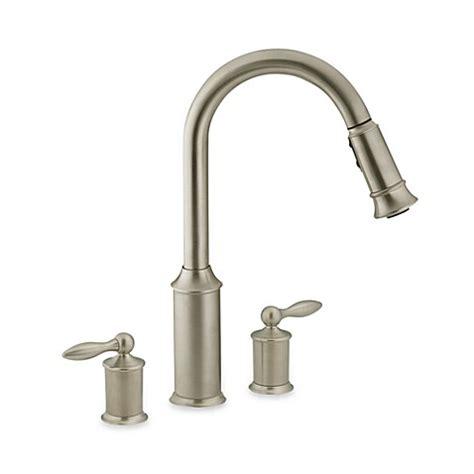 pull out kitchen faucet moen aberdeen faucets home depot moen 174 aberdeen pull out two handle kitchen faucet bed