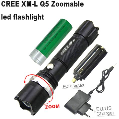 torch battery charger cree xm l zoomable led flashlight torch rechargeable torch