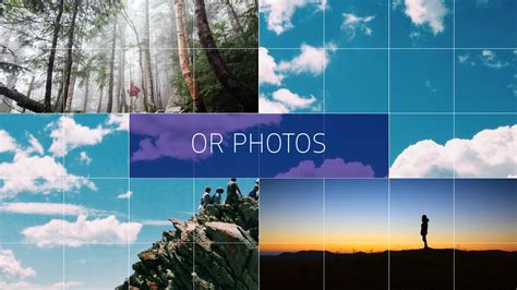 simple grid slideshow after effects template