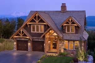 Affordable Barn Homes Mountain View Timber Frame Home Exterior Set At The