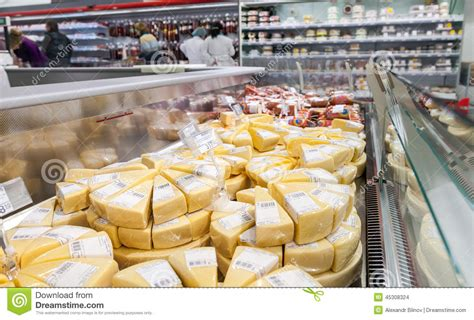 Cheese Hypermart showcase with cheese ready to sale editorial stock image image 45308324