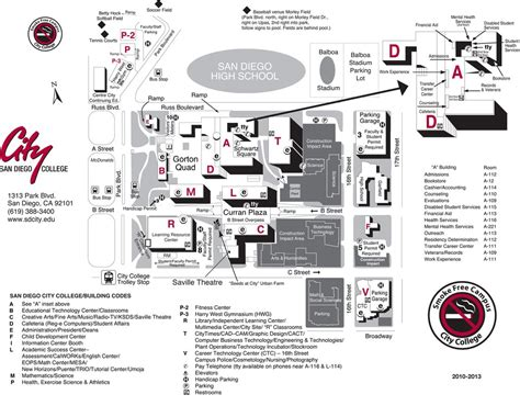 city college map san diego city college cus images