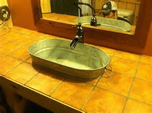 Bathroom Sinks And Faucets Ideas Our New Rustic Western Bathroom Sink Amp Faucet New Home