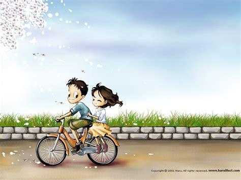 korean couple wallpaper hd bacotan si dilacious cute animated couple cartoon