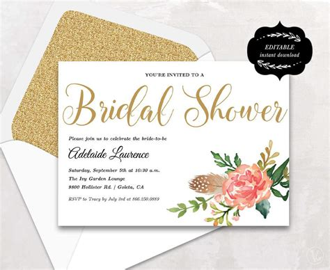 Wedding Shower Invitation Templates Wedding Invitation Templates Bridal Shower Template