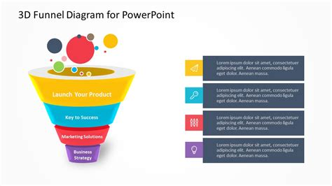 3d funnel diagram for powerpoint pslides