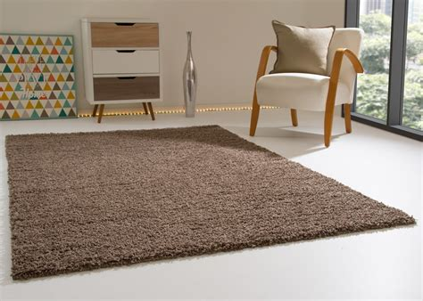 teppich taupe shaggy rug happy soft pile small large new modern