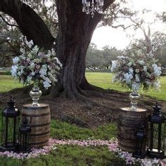 Wedding Arch Between Trees by Outdoor Wedding Arch Or Burlap With Flowers And Boston