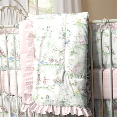 toile coverlet pink over the moon toile crib comforter carousel designs