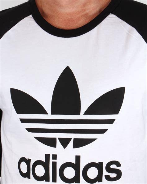 Tshirt Persib Adidas adidas originals trefoil sleeve raglan t shirt white black ringer