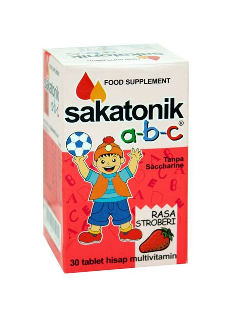 Vitamin Sakatonik Abc sakatonik abc tablet multivitamin stroberi btl 30x800mg