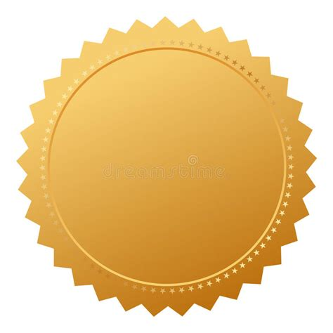 blank agreement gold seal stock vector illustration of
