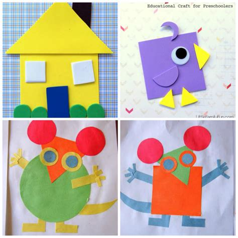figuras geometricas manualidades aprender figuras geometricas puzzle sazul pinterest