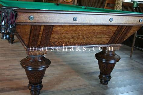 antique billiard tables 1890 naragansett oak marschak s