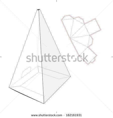triangle packaging template triangle box template search templates