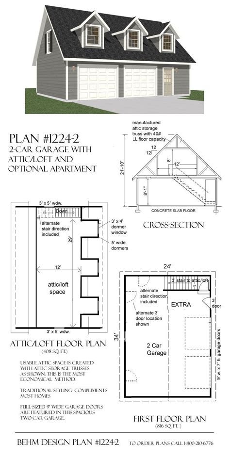 garage designs with loft garage plans with loft 1224 2 34 x 24 for the home