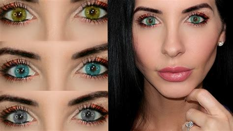 contact lense colors best colored contact lenses try on review discount