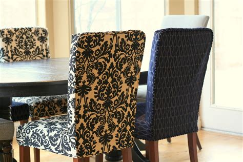 Fabric Covered Dining Room Chairs by Custom Slipcovers By Shelley Menswear Dining Room