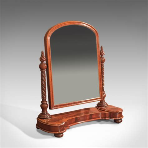 Antique Vanity Table With Mirror by Antique Regency Dressing Table Mirror C 1820