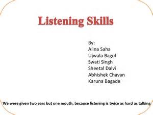 Resume Leadership Skills by Listening Skills